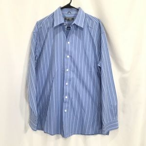 Kenneth Cole Reaction Striped Button Down (H8)